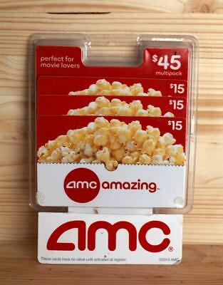 3 AMC multipack gift cards for $15 each total = $45