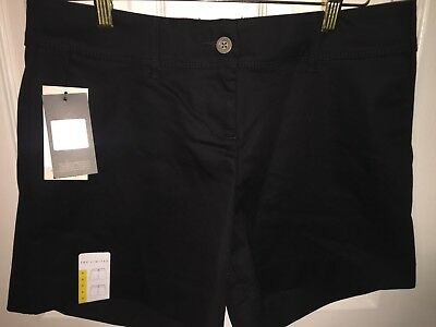 NWT Womens THE LIMITED Black Tailored Flat Front Dress Shorts Size 8