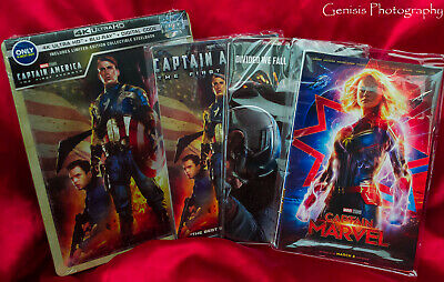 Captain America: The First Avenger SteelBook 4K HD + Blu-Ray + 3 Sets Art Cards