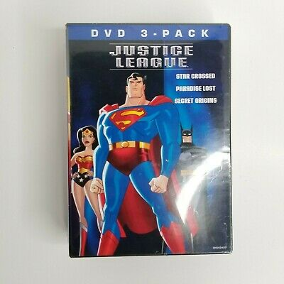 Justice League  3 Pack (DVD, 2004 3 DVDs Star Crossed Paradise NEW Sealed