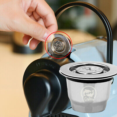 Refillable Reusable Coffee Capsule Pod With Spoon & Brush For Nespresso Machine.