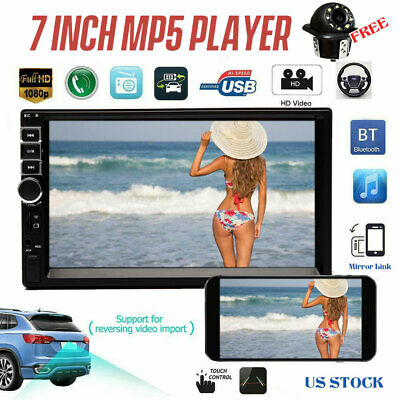 """7"""" 2DIN Car Radio Mirror Link for GPS Audio Stereo MP5 Player W/ Rear Camera HOT"""