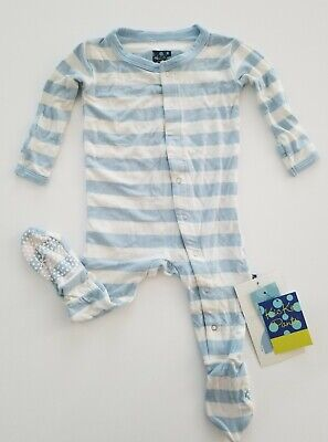 Baby & Toddler Clothing Nwt 0-3 Month Kickee Pants Rose Gold Candy Cane Stripe Holiday Print $19.50 Sleepwear