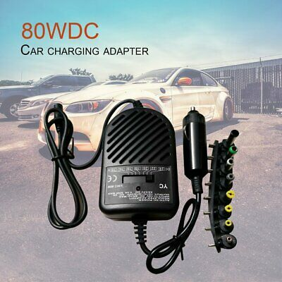 Universal 80W DC Car Charger Power Adapter For Laptop Notebook Computer PC KZ