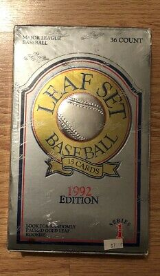 1992 Leaf Baseball Cards Foil Box Series 1 36 Packs Factory Sealed