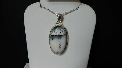 32.45ct Siberian Dendrite Quartz Sterling Silver Pendant with Chain Necklace
