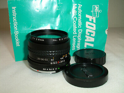 FOCAL MC AUTO 28mm f/ 2.8 LENS , for MINOLTA MD mount cameras Sn827835