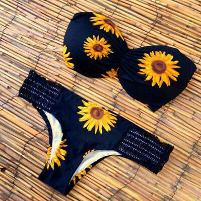 94e1c37102 New women fashion sexy bikini sunflower bust bikinis swimsuits bathing  swimwear