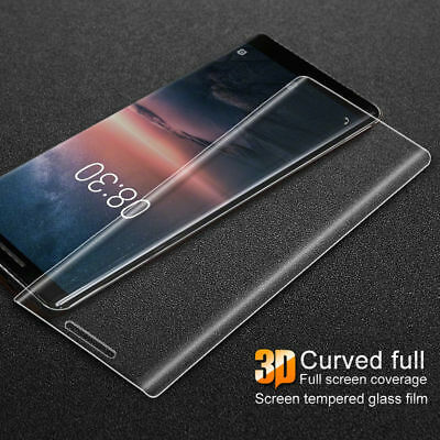 For Nokia 7 2018 6 5 3 Sirocco 3D Full Screen Protector Cover Tempered Glass