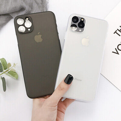 For iPhone 11 Pro XS Max XR 7 8 Plus Ultra-thin Matte Clear Hard Back Case Cover