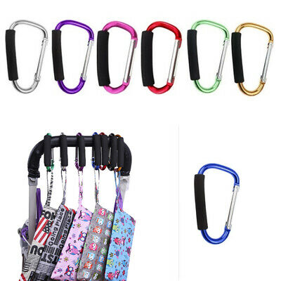 Durable Metal Shopping Bag Hook Stroller Holder Organizer Clip Carabiners