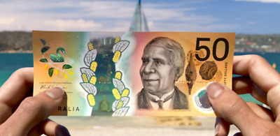 "Australia 50 Dollars $50 ""MicroPrint Error""  Unc"