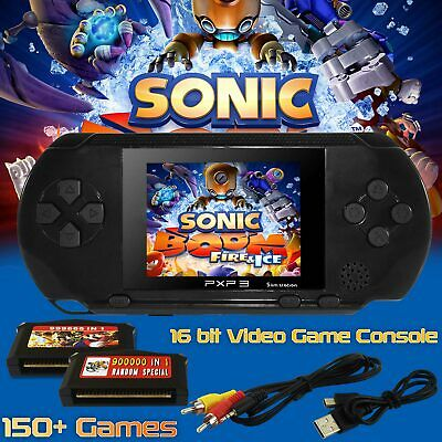 150 in 1 Portable Video Games 16Bit Handheld Console 150 Retro PXP3 Megadrive AU