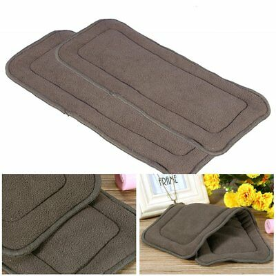 Reusable Bamboo Charcoal Cloth Nappy Super Absorbent Diaper Insert Pad Adult