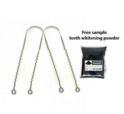 WC_Zig-zag shaped SAE 304 Stainless Steel tongue cleaner, Rustproof steel tongue
