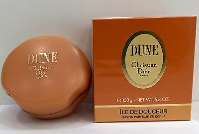 Christian Dior Dune Savon Parfume Perfumed Soap in Luxury Dish 150g New & Rare