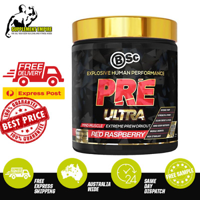 BSC Body Science Pre Ultra Pre Workout High Stim Preworkout 280g 40 Serves