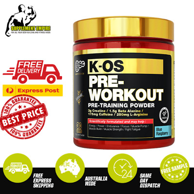 BSC Body Science K OS Pre Workout Energy Muscle Pump Focus Preworkout 30 Serves