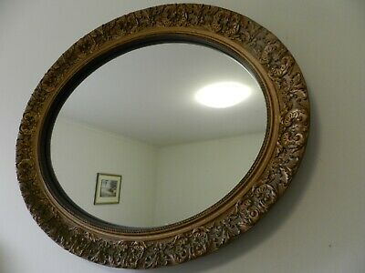 vintage mirror oval (period style )