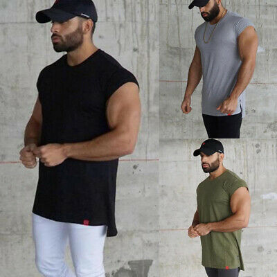 Men Summer Sleeveless Bodybuilding Vest Training Gym Sports Muscle Tee Tank Tops