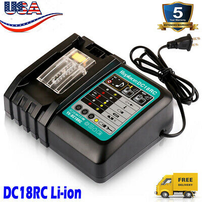 14.4V-18V for Makita DC18RC 18 Volt Lithium ion Charger for BL1830 BL1845 BL1860