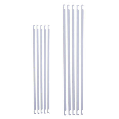 5x 345mm 405mm Metal Hanging File Organizer Durable Rods Bars School Office