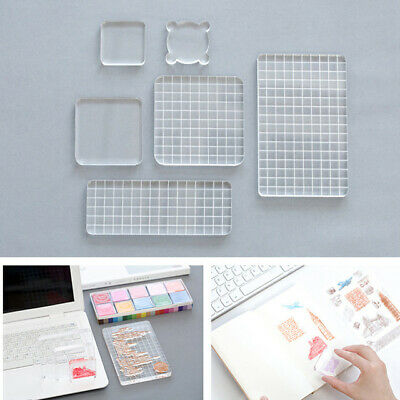 Acrylic Clear Stamp Block Handle Stamping Photo Album Decor Essential Kits Chic