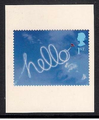 GB 2002 sg2264a Greetings Stamps Occasions 'Hello' s/a booklet only stamp MNH
