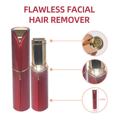 Flawless Hair Remover Skin Women Painless Battery Face Facial Finishing Touch