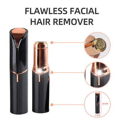 Flawless Face Facial Skin Women Battery Hair Remover Black Painless  Finishing