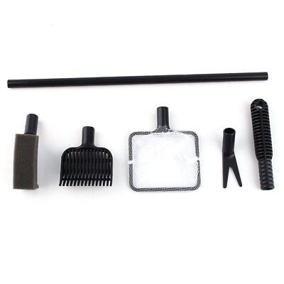 Fish Tank Aquarium Cleaning Kit Glass Brush Fishnet Magnetic Cleaner Tools 4 in1