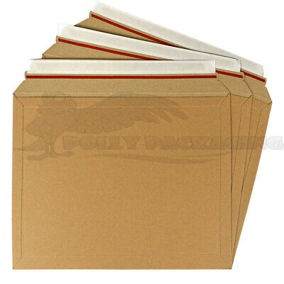 100 x CARDBOARD ENVELOPES 235x180mm A1 Size LIL Rigid ROYAL MAIL DVD/BOOK/CD's