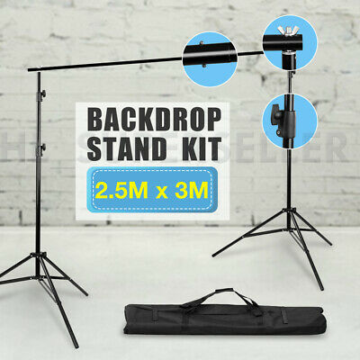Heavy Duty Photo Photography Studio Background Backdrop Stand Kit With Carry Bag