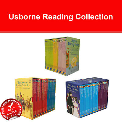 Usborne Reading Complete Collection Box Set School Early Reader Pack Read atHome