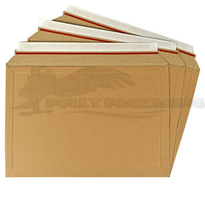 100 x CARDBOARD ENVELOPES 334x234mm A2 Size LIL Rigid ROYAL MAIL DVD/BOOK/CD's