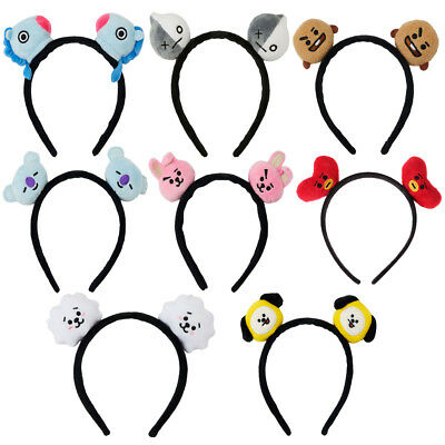 2Pcs BT21 Kpop BTS Headband Hair Band Bangtan Boys Cooky Chimmy Tata Shooky Gift