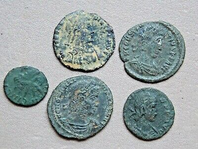 group of unresearched roman coins metal detecting detector finds