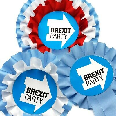 The Brexit Party Exclusive Rosette Collection - Various Designs Available