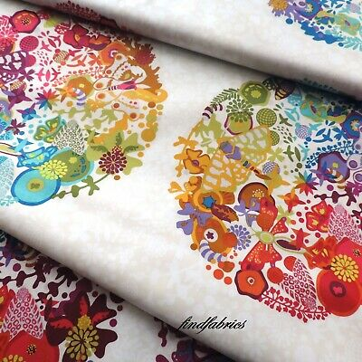 Alison Glass Remix Art Theory Panel Grey and Ivory ~ Fabric Quilt Craft Bags