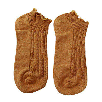 Women Spring Solid Color Summer Thin Section Curling Socks Loose Soft Socks LH