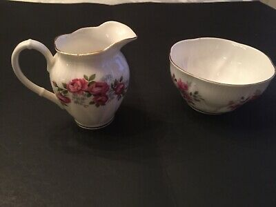 Royal Albert Vintage English China Creamer and Sugar Beautiful  Pieces