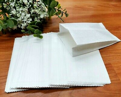 50pk White Greaseproof Paper Bags Lolly Cake Candy Bags Wedding Birthday Party
