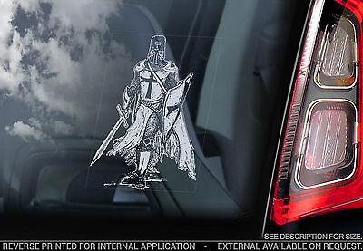 Knights Templar - Car Window Sticker - Masonic Symbol Sign Freemasons Logo - V03