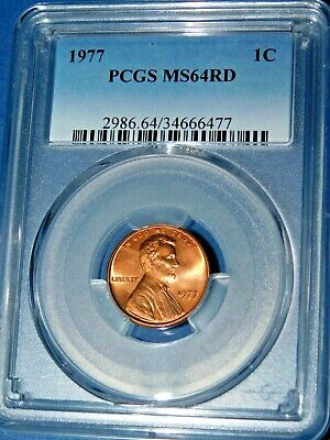 1977 1C RD Lincoln Memorial Cent-PCGS MS64RD--377-1