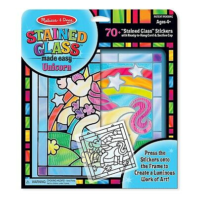 Melissa & Doug Stained Glass Made Easy - Unicorn - (Damaged Packaging) - 19299