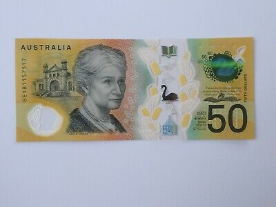 Australian $50 new note - Uncirculated Condition - BE181157517 Spelling Mistake