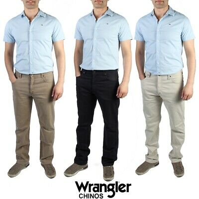MENS WRANGLER CHINO JEANS SOFT STRAIGHT LEG VINTAGE SIZE 28 in. to 42 in.