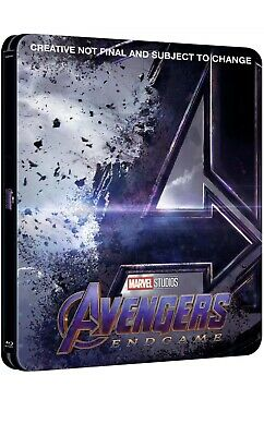 Avengers Endgame (3D/2D Blu-ray discs, 2019) Pre-order Zavvi Steelbook SOLD OUT!