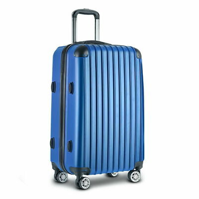 "28"" Luggage Suitcase Blue TSA Travel Hard Case Lightweight"