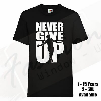 Never Give Up Liverpool T-Shirt Mo Salah 2019 Adults Kids Champions League Final